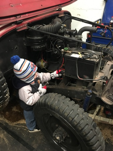 My son getting in on fixing it